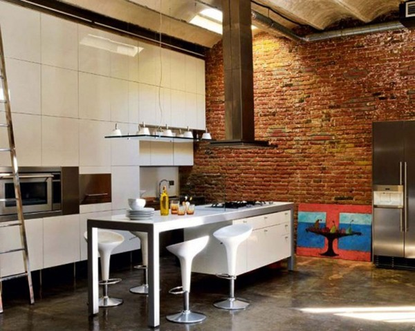 Modern-Loft-with-Industrial-Bricks-Element-for-Apartment-Ideas-Dining-Room-800x639