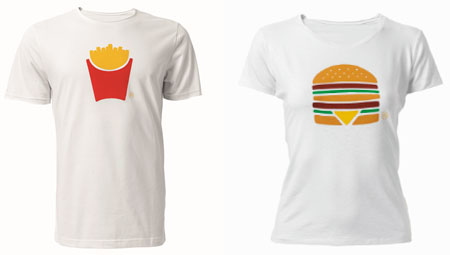 t-shirt mc donald's