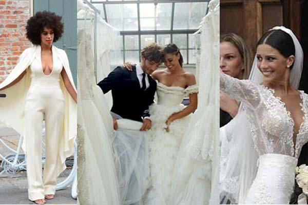 Spose vip  gli abiti più originali delle celebreties  48784fcad61