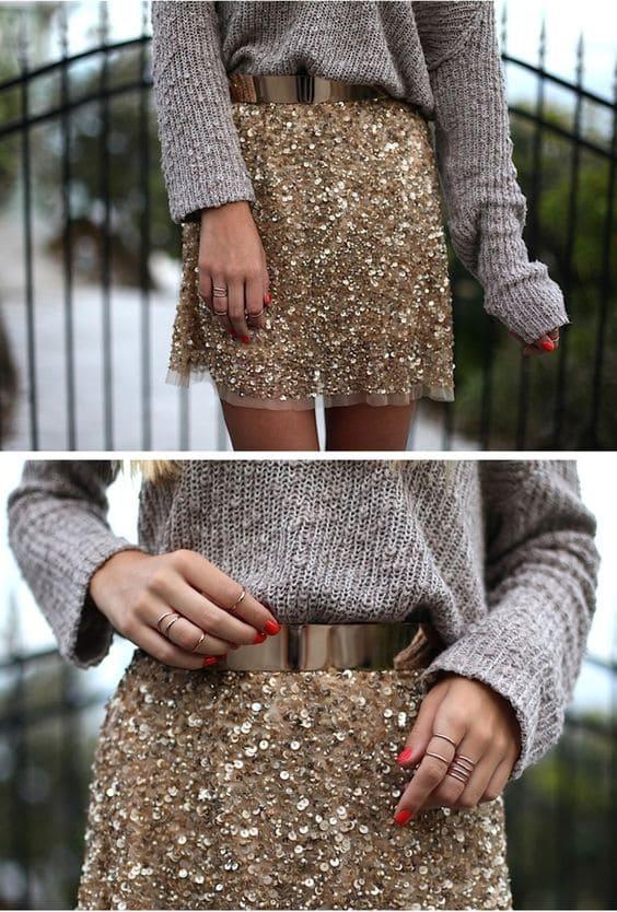 outfit capodanno luccicante